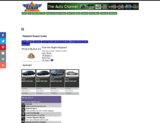 maybach.theautochannel.com screenshot