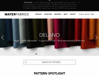 mayerfabrics.com screenshot
