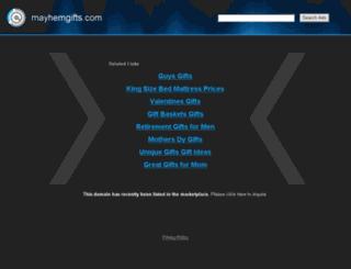 mayhemgifts.com screenshot
