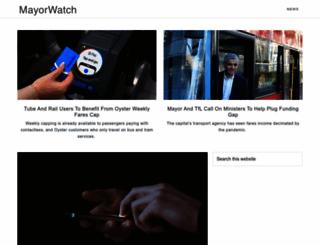 mayorwatch.co.uk screenshot