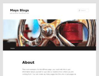 maysblogs.tamu.edu screenshot