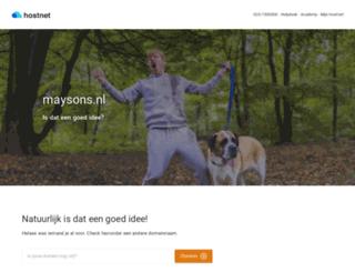 maysons.nl screenshot