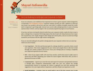 mayuriinfomedia.wordpress.com screenshot