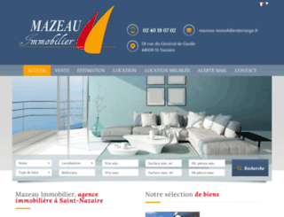mazeau-immobilier.com screenshot