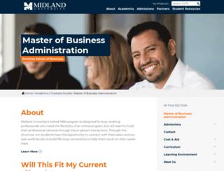 mba.midlandu.edu screenshot