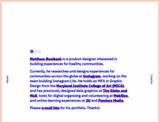 mbambach.com screenshot