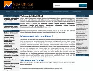 mbaofficial.com screenshot