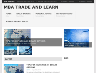 mbatradeandlearn.website screenshot