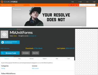 mbunitforms.sourceforge.net screenshot
