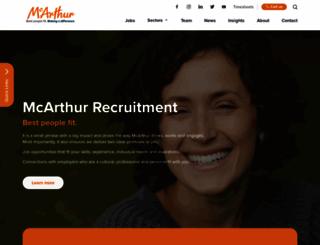 mcarthur.com.au screenshot