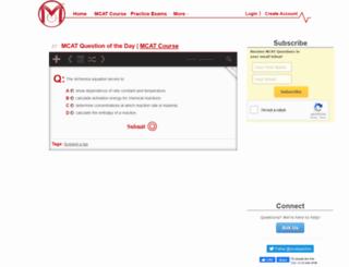 mcatquestionaday.com screenshot