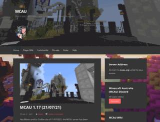 mcau.org screenshot