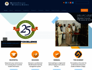 mcbs.edu.om screenshot