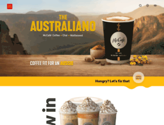 mcdonalds.com.au screenshot