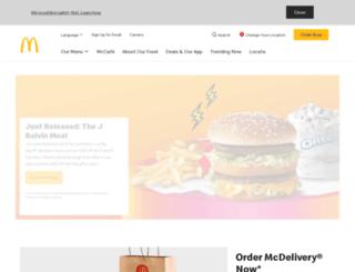 mcdonaldsarabia.com screenshot