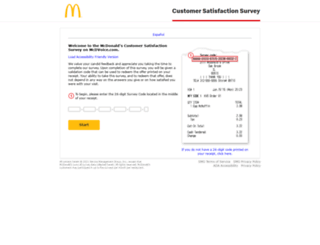mcdvoice.com screenshot