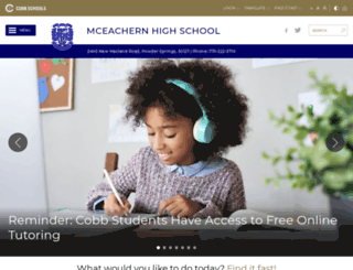 mceachernhigh.org screenshot