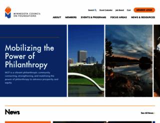 mcf.org screenshot
