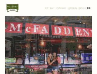 mcfaddensglendale.com screenshot