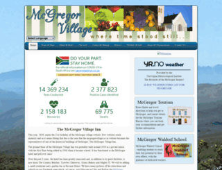mcgregorvillage.co.za screenshot