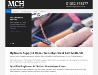 mchhydraulics.co.uk screenshot