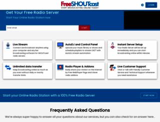 mciradio.freeshoutcast.com screenshot