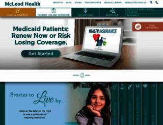 mcleodhealth.org screenshot