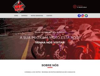 mcmotos.com.br screenshot