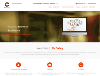 mcoxley.com screenshot