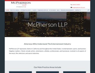 mcphersonrane.com screenshot