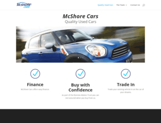 mcshorecars.co.za screenshot