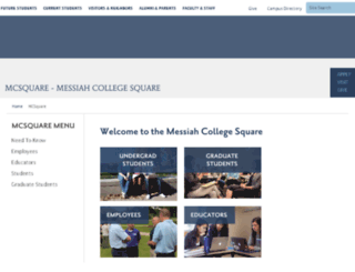 mcsquare.messiah.edu screenshot