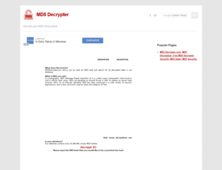 md5decrypter.com screenshot