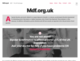mdf.org.uk screenshot