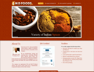 mdfoods.net screenshot