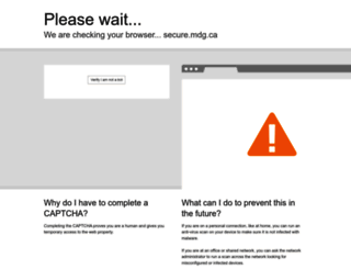 Mdg.ca Screenshot