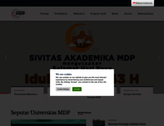 mdp.ac.id screenshot