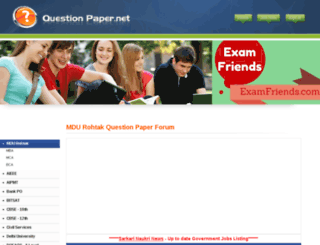 mdu.questionpaper.net screenshot