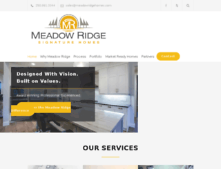 meadowridgehomes.com screenshot