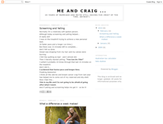 meandcraig.blogspot.com screenshot