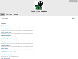 meangreentrainingcenter.frontdeskhq.com screenshot