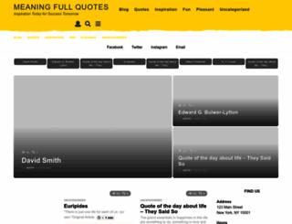 meaningfullquotes.com screenshot