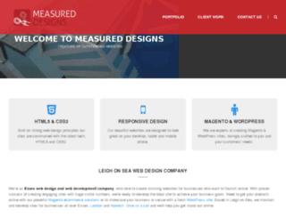 measureddesigns.com screenshot
