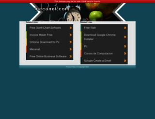 mecanet.com screenshot