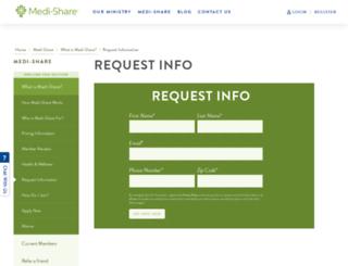 medi-share.org screenshot