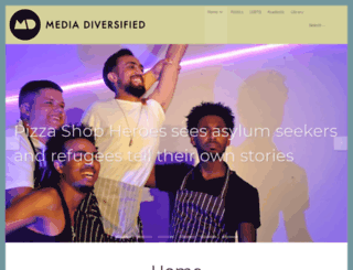 mediadiversified.org screenshot