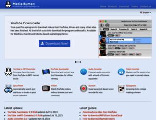 mediahuman.com screenshot