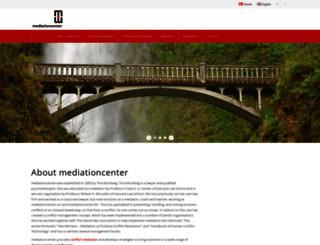 mediationcenter.dk screenshot