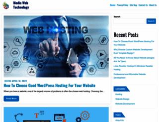 mediawebtechnology.com screenshot