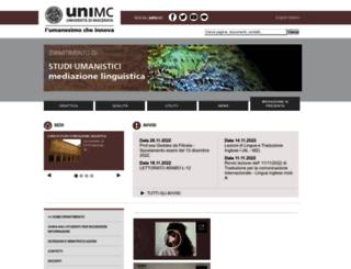 mediazione.unimc.it screenshot